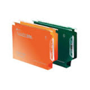 Rexel Crystalfile Extra Lateral File 30mm Green Pack of 25
