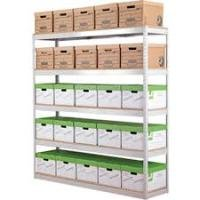 Zamba Stock/Archive Shelving W1200mm Grey