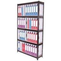 Storage Solutions Boltless 5-Shelf Lever Arch File Unit Black