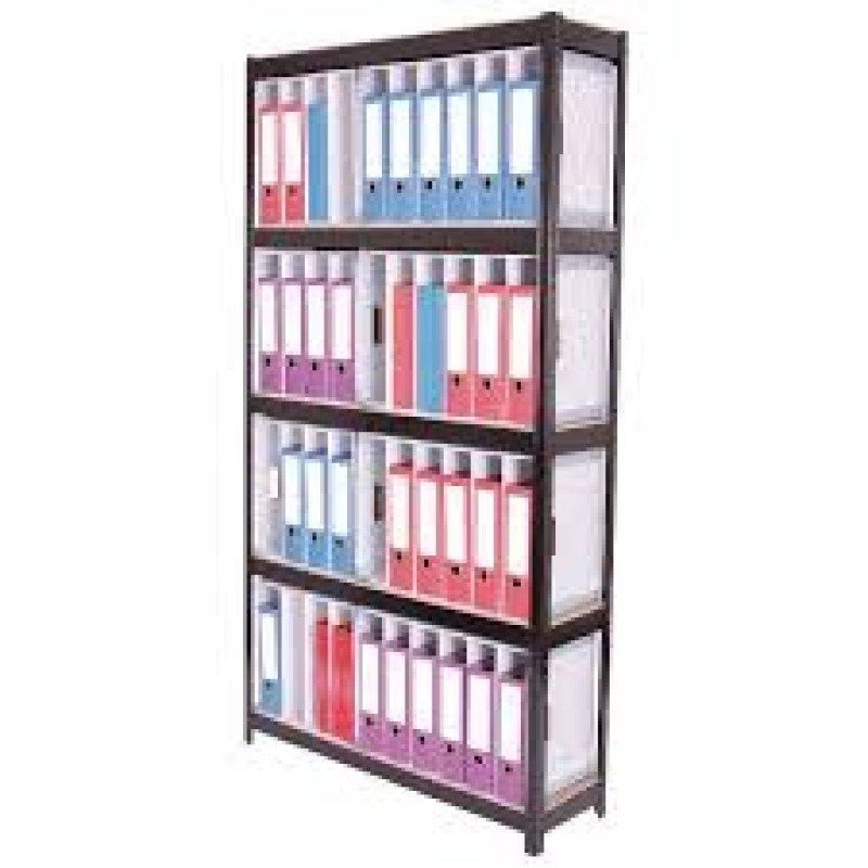 Storage Solutions Boltless 5-Shelf Lever Arch File Unit Black