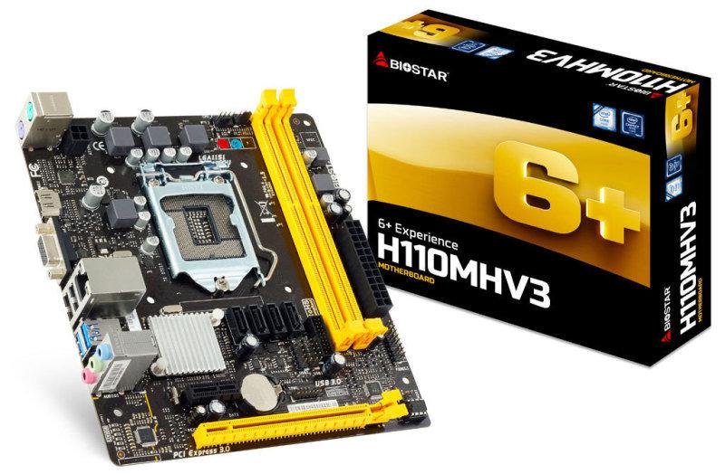 Biostar H110MHV3 Ver. 7.x Socket 1151 VGA HDMI 8-Channel HD Audio Micro ATX Motherboard