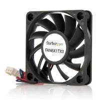 StarTech.com 60x10mm Replacement Ball Bearing Computer Case Fan w/ TX3 Connector - 3 pin case Fan - TX3 Fan - 60mm Fan