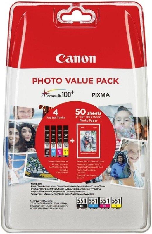 Canon CLI-551 Photo Value Pack