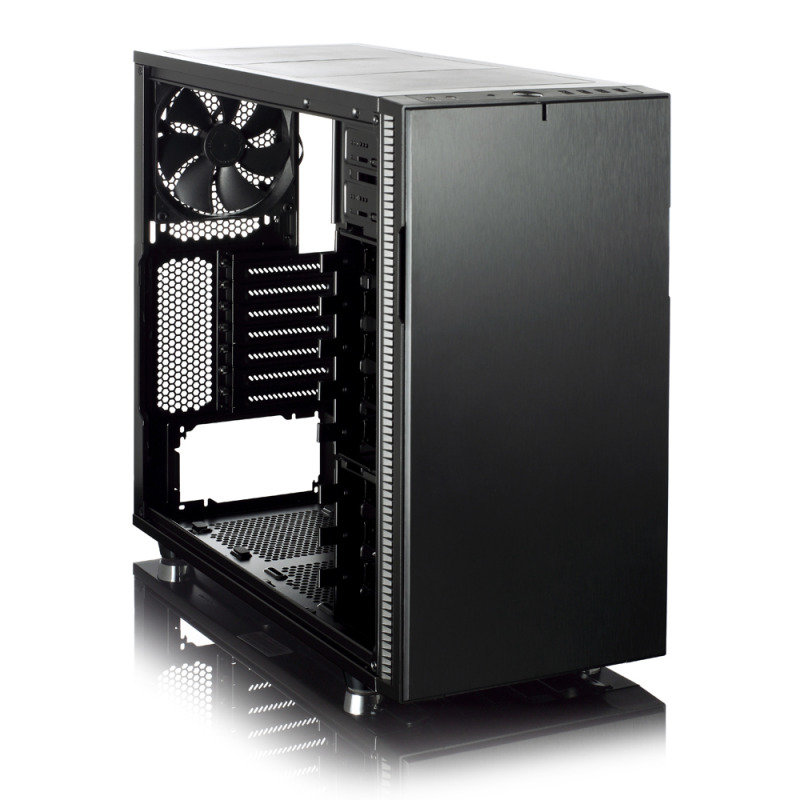 Fractal Design Define R5 Blackout Edition Computer Case With Side Window