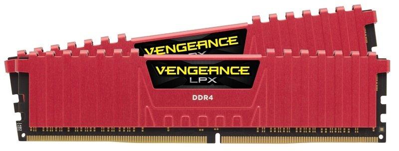 Corsair Vengeance LPX 16GB (2 X 8GB) Memory Kit Pc4-25600 3200MHz DDR4 DIMM C16 (Red)