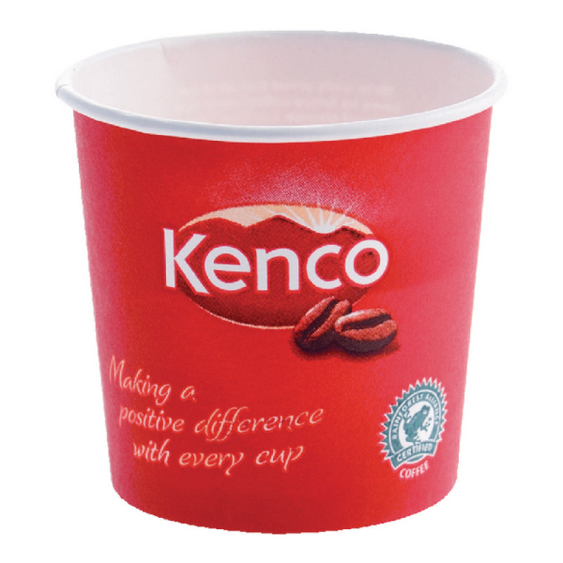 Image of Kenco 7oz Singles Paper Cups Red Pack of 800