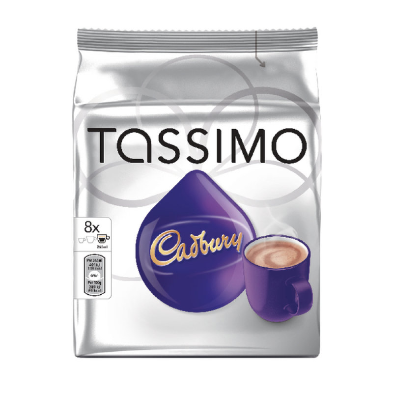 Image of Tassimo Cadbury Hot Chocolate 8x 240g Capsules Pk 5
