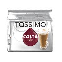 Tassimo Costa Latte Coffee 8x 239.2g Capsules Pk 5