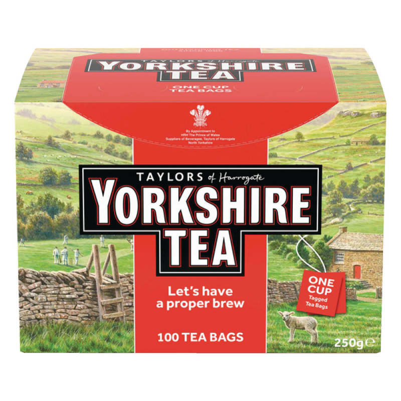 Yorkshire Tea One Cup String and Tag Tea Bags Pk100