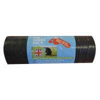 The Green Sack Medium Duty Refuse Sacks on a Roll Black Pack of 15