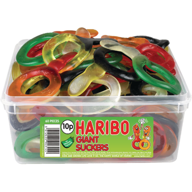 Image of Haribo Giant Suckers Tub
