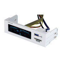 Aerocool CoolTouch R 5.25inch Fan Controller Touch White USB3 Card Reader