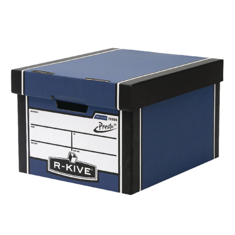 Image of Fellowes Bankers Box Premium Presto Classic Storage Box Blue