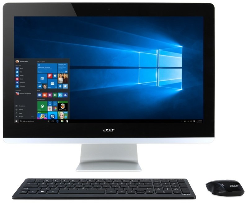 Acer Aspire Z3710 AIO Desktop Intel Core i34005U 1.7GHz 4GB RAM 1TB HDD 23.8&quot LED DVDRW Intel HD WIFI Webcam Bluetooth Windows 10 64bit