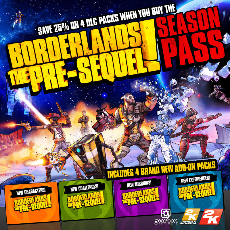 Image of Borderlands: The Pre-sequel Season Pass - Age Rating:18 (pc Game)