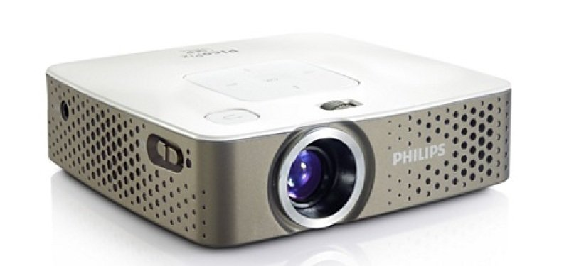 Philips PPX3414 Multi Media Pocket Projector  140 Lumens 4GB Office Viewer