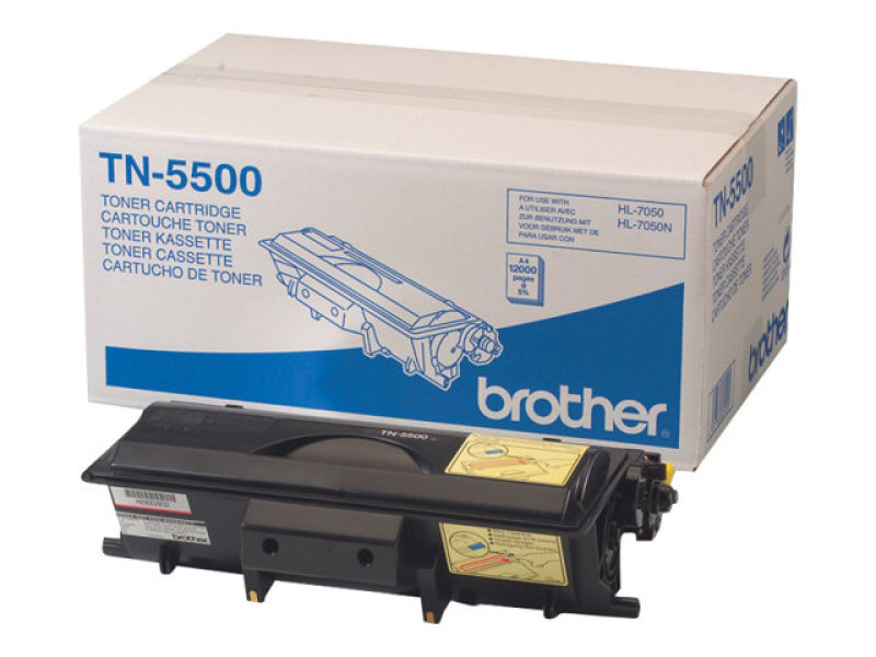 Brother TN5500 Black Toner Cartridge 12,000 Pages
