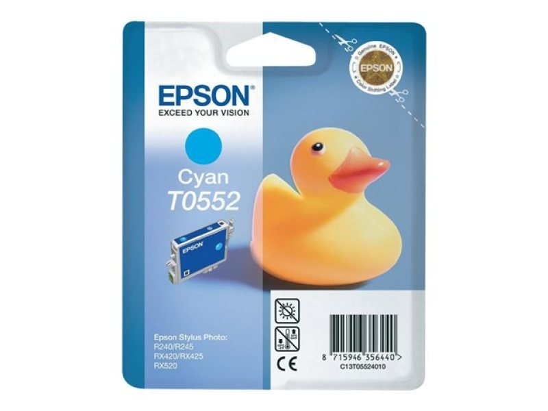 Epson T0552 8ml Cyan Ink Cartridge 290 Pages