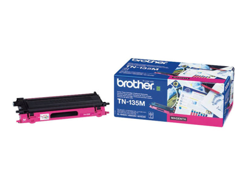 BROTHER TN-135M MAGENTA TONER CARTRIDGE (4 000 A4 PAGES @ 5% COVERAGE)