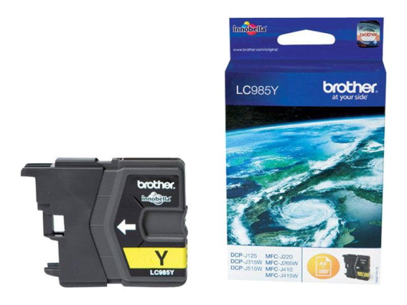 Brother LC 985Y Yellow Ink Cartridge