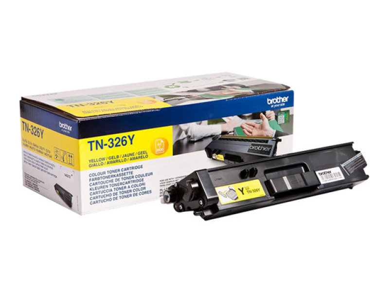 Brother TN-326Y Yellow Toner Cartridge - 3,500 Pages