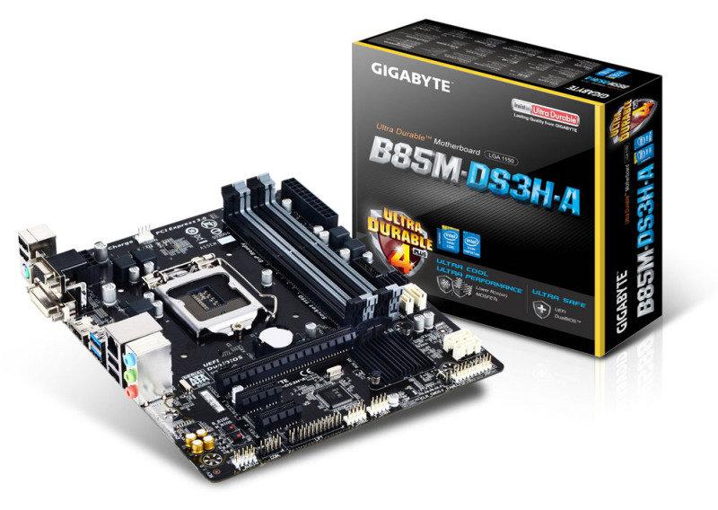 Gigabyte GAB85MDS3HA Socket LGA 1150 VGA DVID HDMI Micro ATX Motherboard
