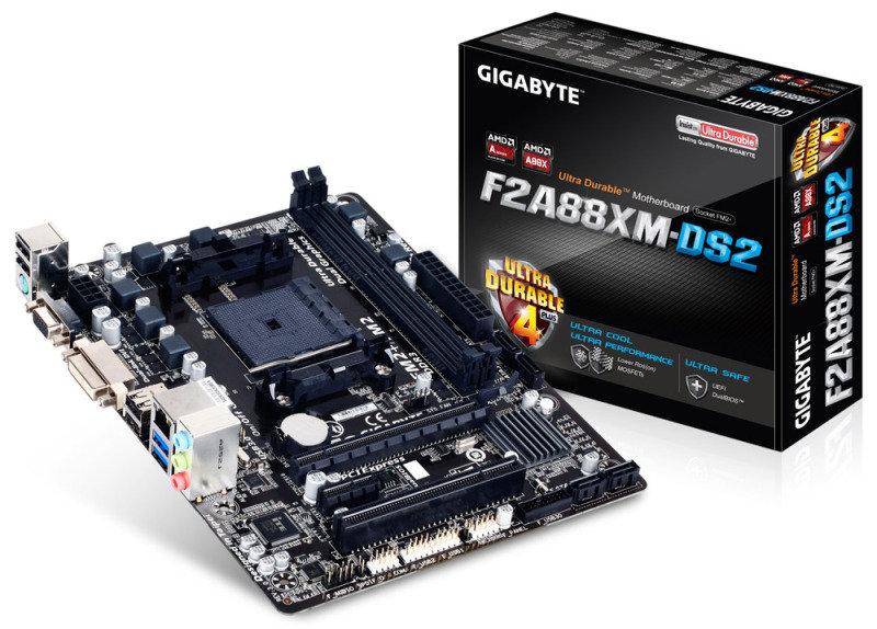 Gigabyte GAF2A88XMDS2P Socket FM2 VGA DVID Micro ATX Motherboard