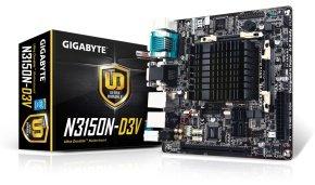 Gigabyte GA-N3150N-D3V  Intel Quad-Core Celeron N3150 VGA DVI-D Mini-ITX Motherboard