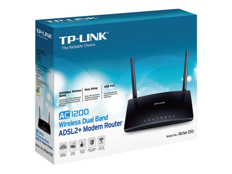 TP-LINK ARCHER D50 AC1200 Wireless Router