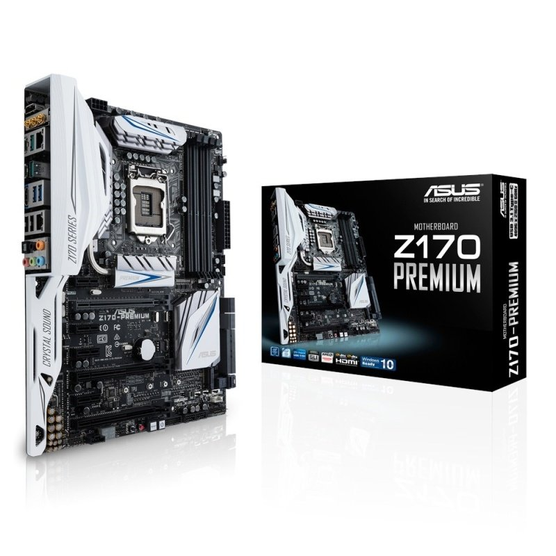 Asus Z170PREMIUM Intel Socket LGA 1151 HDMI DisplayPort 8Channel HD Audio ATX Motherboard