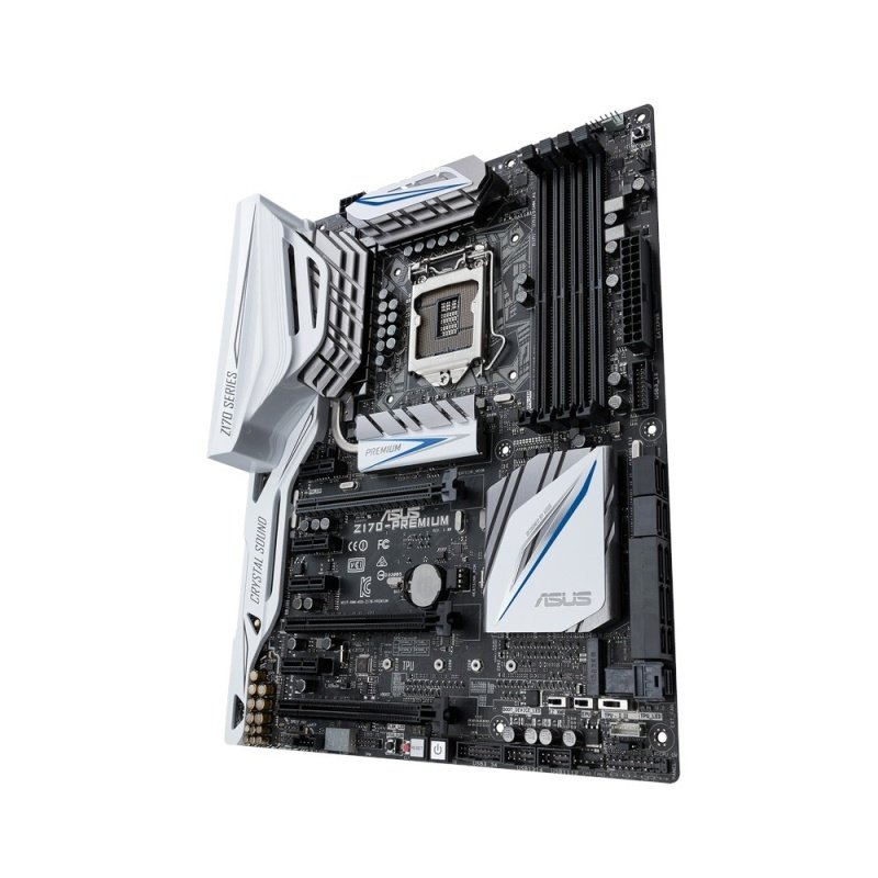 Asus Z170-PREMIUM Intel Socket LGA 1151 HDMI DisplayPort 8-Channel HD Audio ATX Motherboard