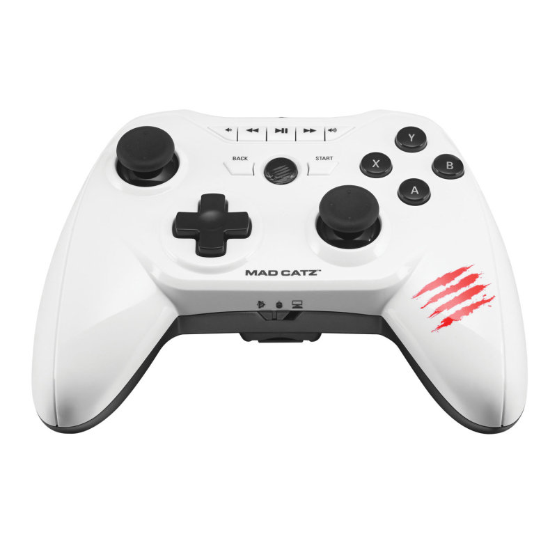 Image of Mad Catz C.T.R.L.R Mobile Gamepad (dualbt) - White For Android Smart Devices Fire Tv Pc And M.o.j.o.