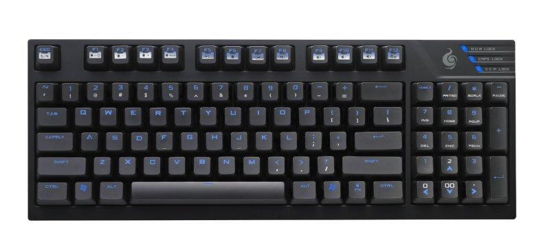 Cooler Master Quick Fire TK Gaming Keyboard, TK Size, FPS light Mode, Blue Backlit, Mechanical, Cherry MX Blue
