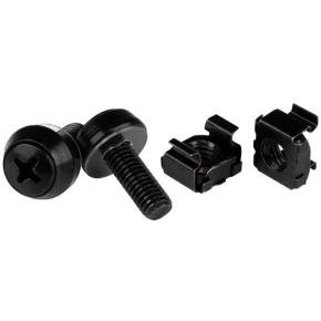 M6 x 12mm Screws and Cage Nuts 50 Pack