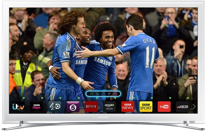 "Samsung UE22H5610 22"" Slim LED Smart HD White TV"