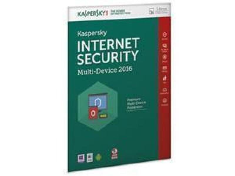 Kaspersky Internet Security Multi Device 2016 1 User 1 Year Dvd