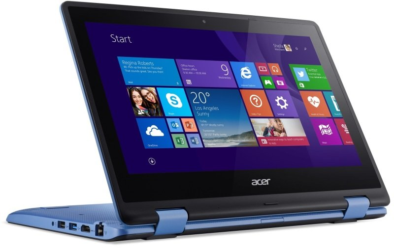 "Image of Acer Aspire R3-131T Convertible Laptop, Intel Celeron N3050 1.6GHz, 4GB RAM, 500GB HDD, 11.6"" Touch, No-DVD, Intel HD, WIFI AC, Webcam, Bluetooth, Windows 8.1"