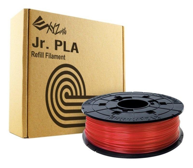 XYZ Da Vinci Junior 600g PLA Filament Cartridge - Clear Red