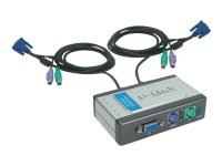 Dlink 2 Port KVM Switch - With Built In Cables - desktop