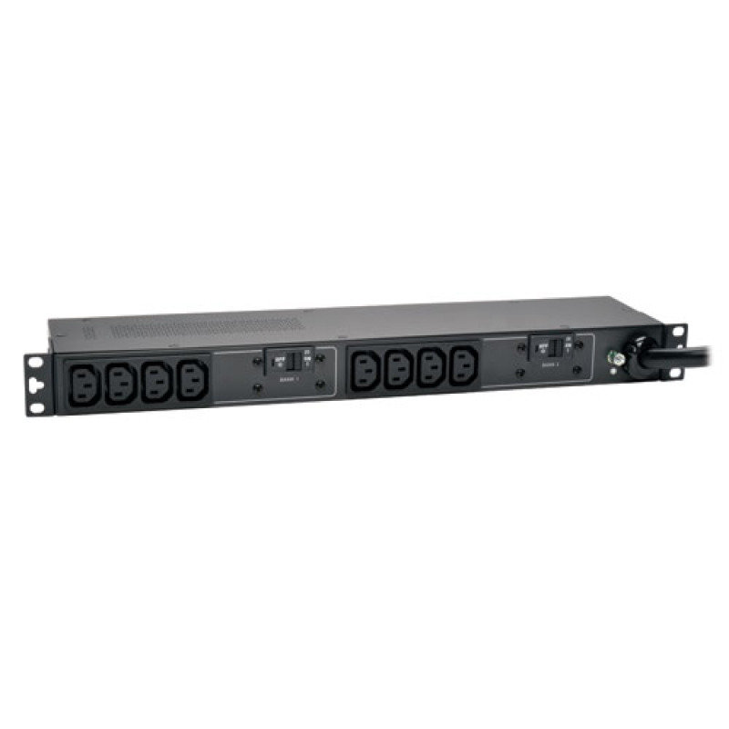 7.4kW Single-Phase Basic PDU, 230V Outlets (10 C13), IEC309 32A Blue, 12ft Cord, 1U Rack-Mount