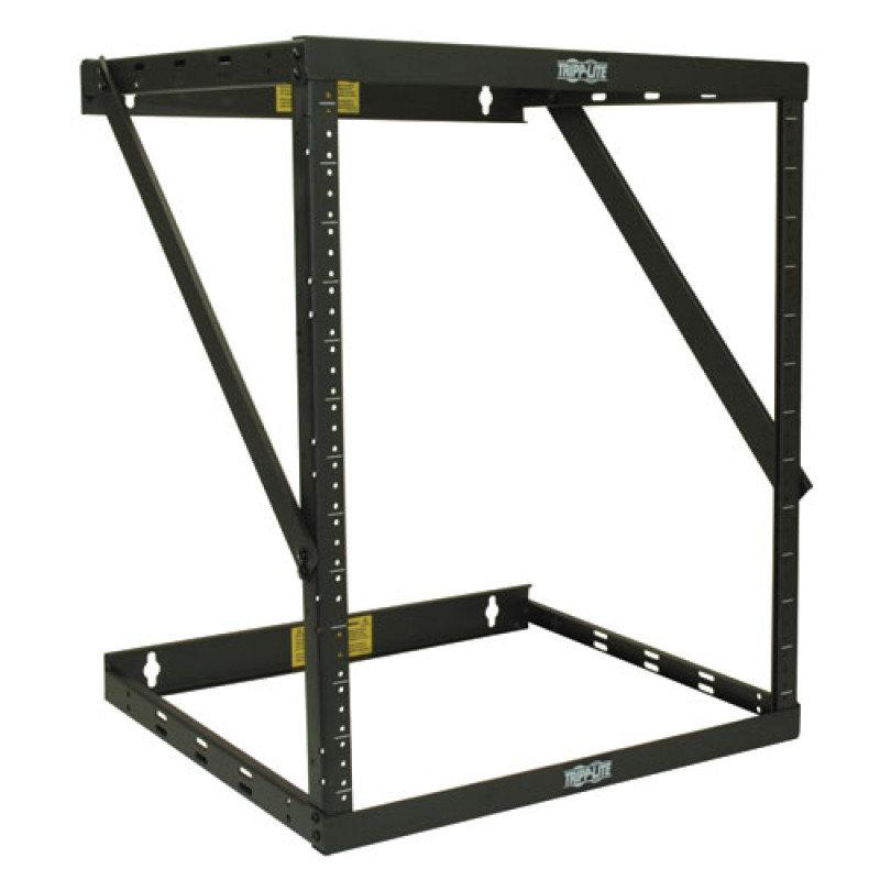 SmartRack 8U/12U/22U Expandable Flat-Pack Low-Profile Switch-Depth Wall-Mount 2-Post Open Frame Rack