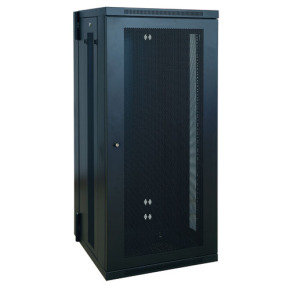 SmartRack 26U Low-Profile Switch-Depth Wall-Mount Rack Enclosure Cabinet, Hinged Back