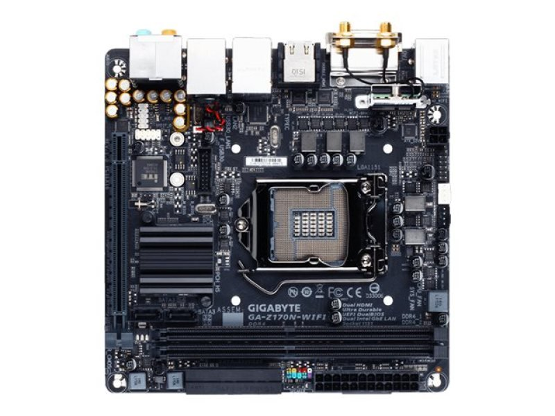 EXDISPLAY Gigabyte GA-Z170N-WIFI Socket 1151 DVI Dual HDMI 7.1 Channel audio Mini ITX Motherboard