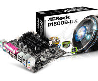 ASRock D1800B-ITX Intel Dual-Core J1800 VGA HDMI 5.1 CH HD Audio Mini-ITX Motherboard