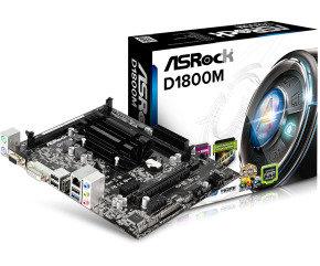 ASRock D1800B Intel Dual-Core J1800 VGA DVI-D HDMI 5.1 CH HD Audio Micro ATX Motherboard