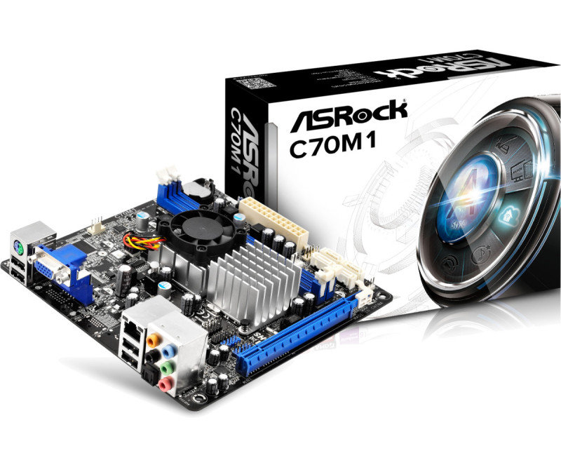 ASRock C70M1 AMD DualCore Ontario VGA 7.1 CH HD Audio MiniITX Motherboard