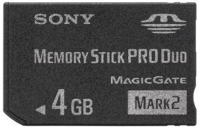 Sony 4GB Memory Stick Pro Duo Card Mark 2
