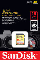 SanDisk Extreme 16GB SDHC UHS-I Memory Card