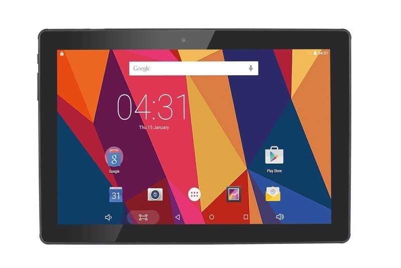 HANNSpad Hercules 16GB 10.1 IPS Android Tablet   Black