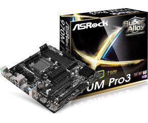 ASRock 970M Pro3 Socket AM3+ 7.1 CH HD Audio Micro ATX...